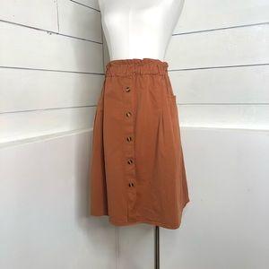 Sadie & Love Burnt Orange Elastic Waist Skirt